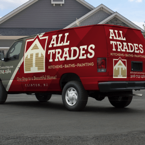 Vehicle wrap design we created for this Clinton, NJ based kitchen, bath and painting contractor.