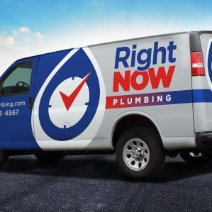 The best vehicle wraps use simple, easy-to-read graphics, as this wrap for Right Now Plumbing shows.