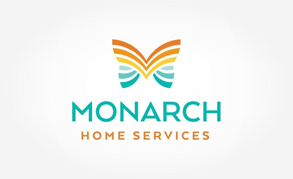 Unique logo design for Monarch Home Services located in California.