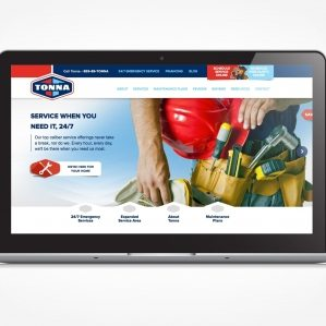 Tonna Mechanical's brand voice was extended to the company's website, which was refined to become more user-friendly and effective at generating new leads.