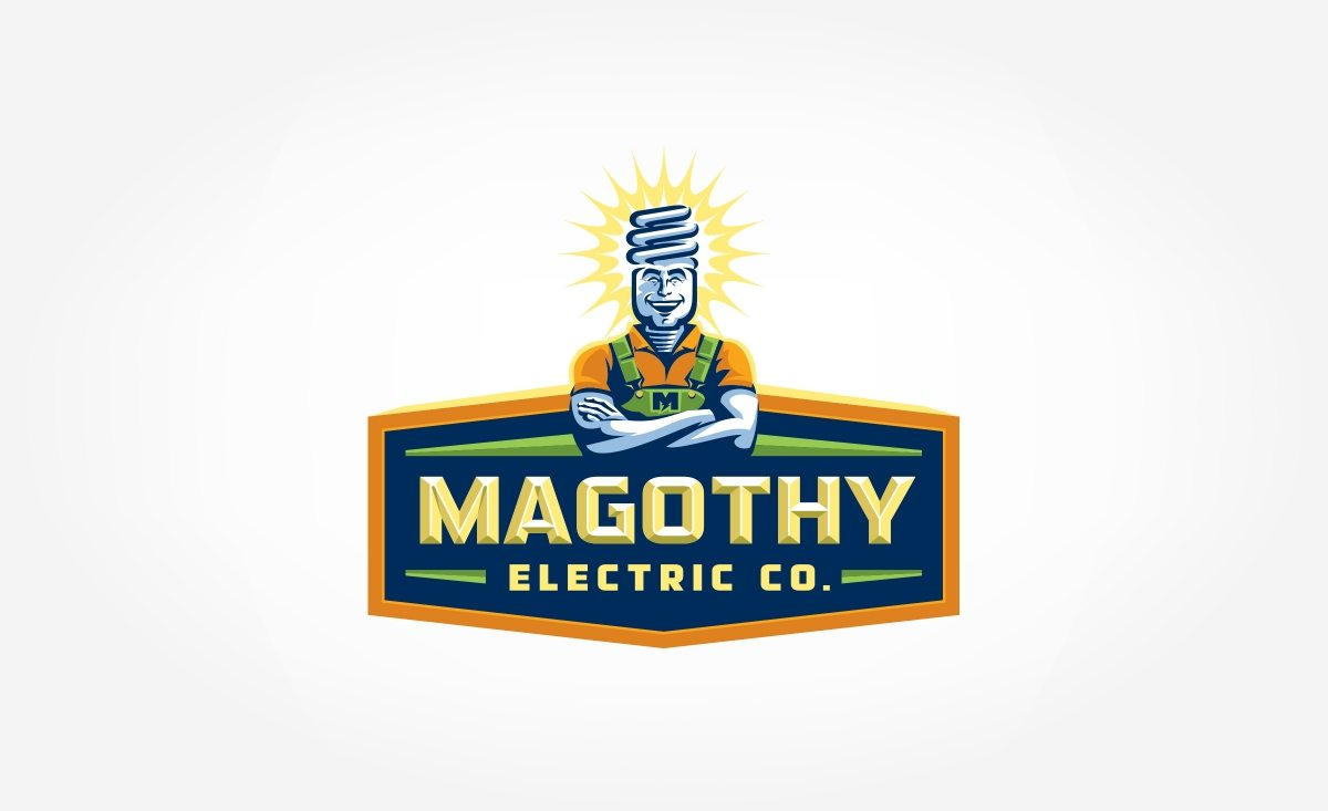 Logo design for Magothy Electric located in Maryland.