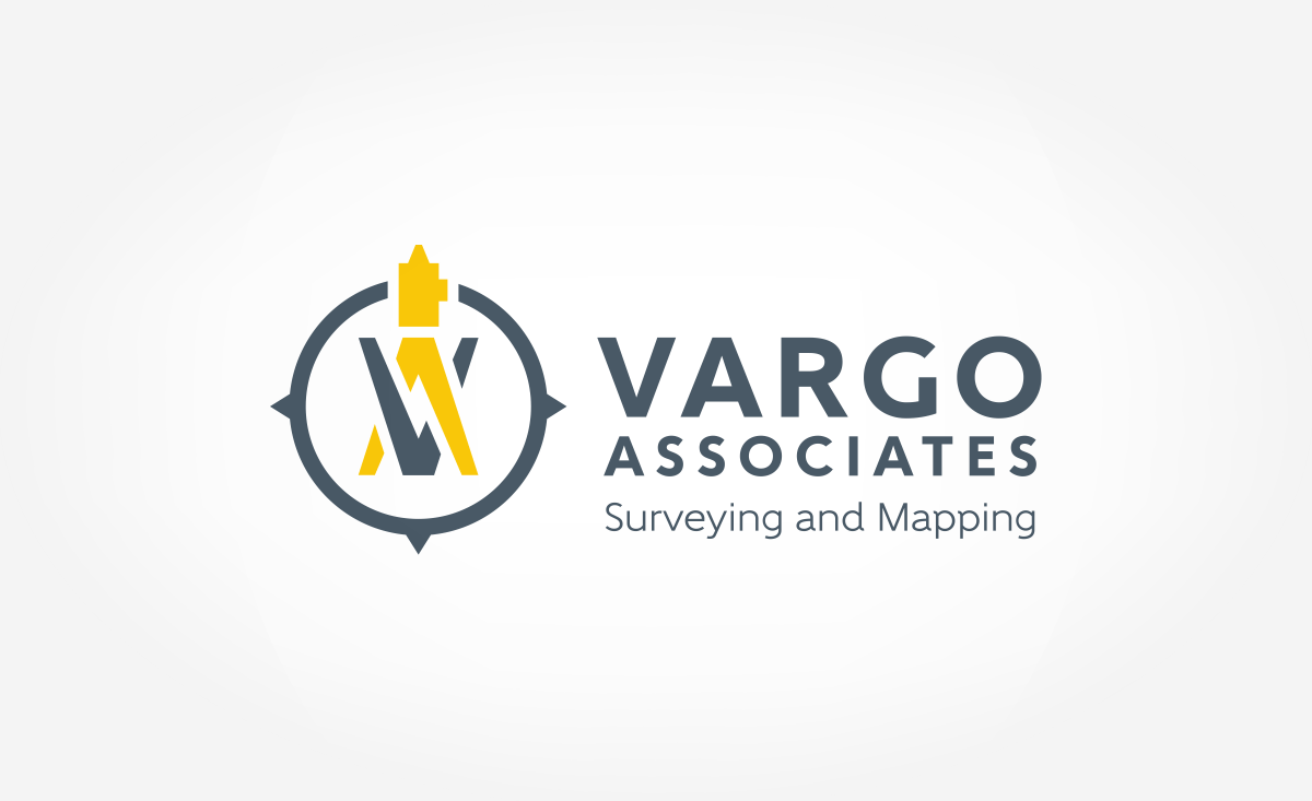 Logo design for Vargo Associates, a surveying and mapping company in New Jersey.
