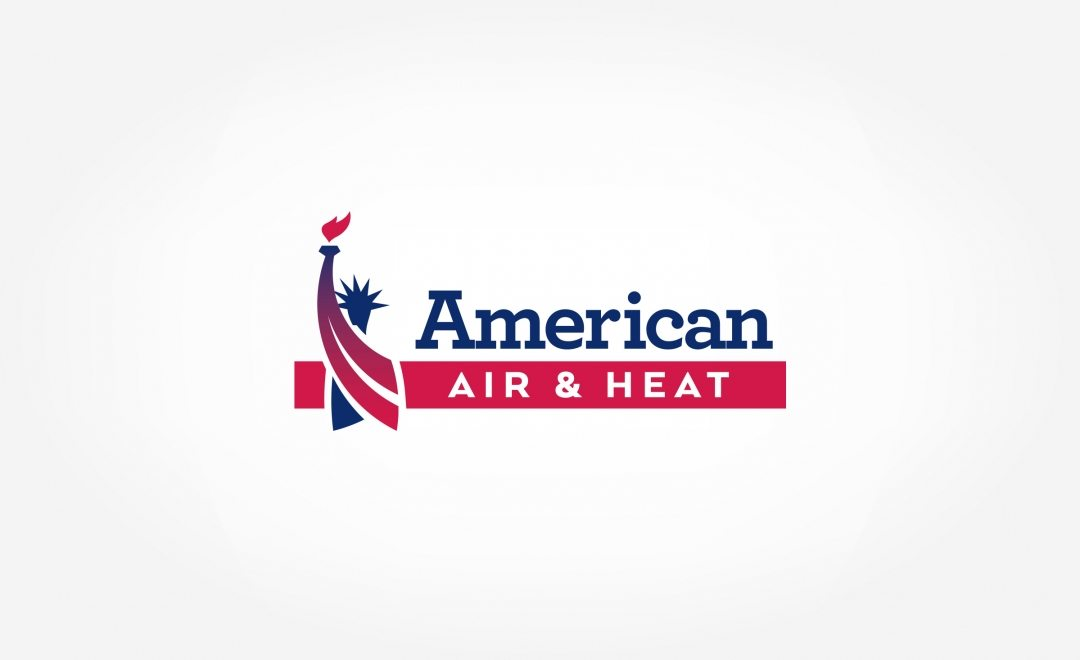 Logo design for American Air & Heat, a Florida-based HVAC company.