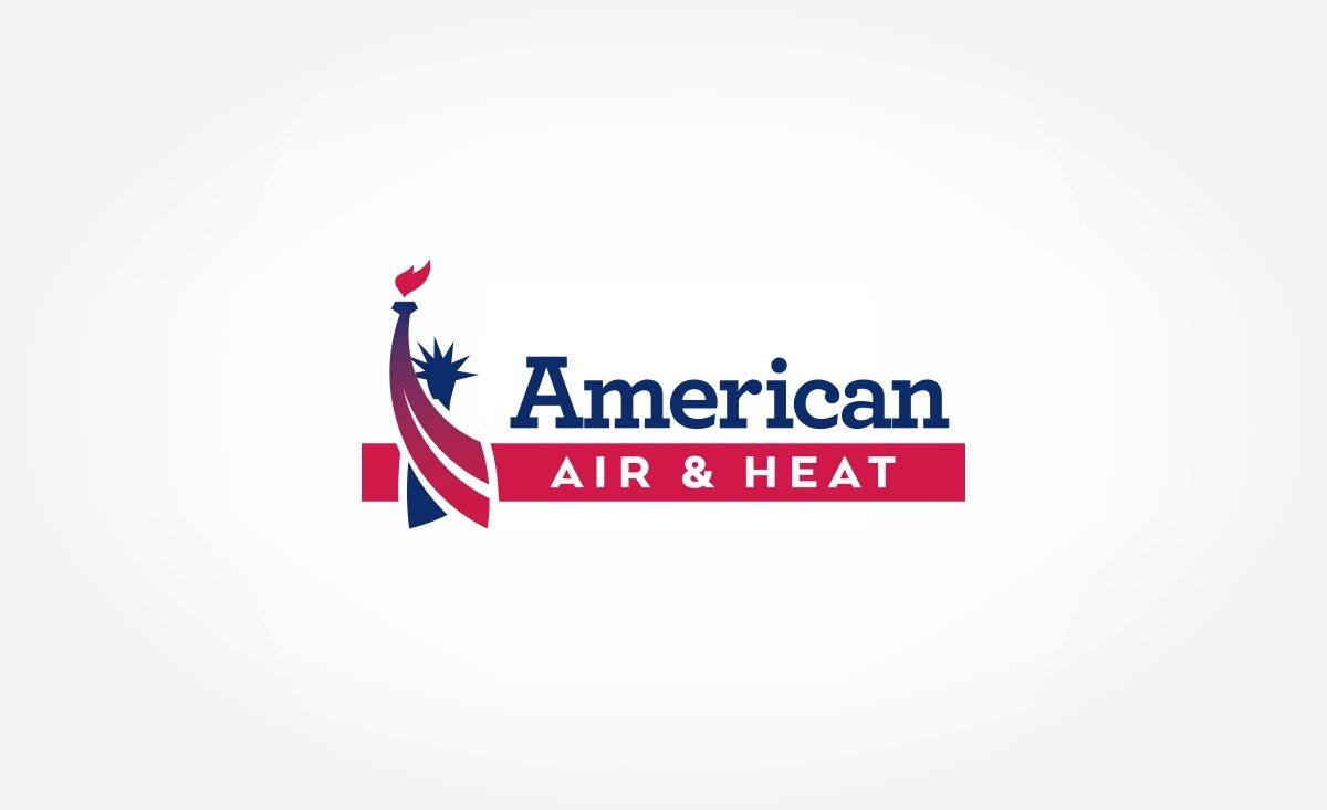 Logo design for American Air & Heat, a Florida-based HVAC company.
