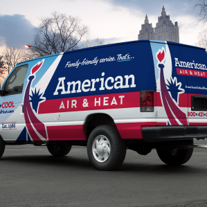 This truck wrap design conveys the brand's core values—trust, reliability and professionalism—as it rolls through neighborhoods in Central Florida.