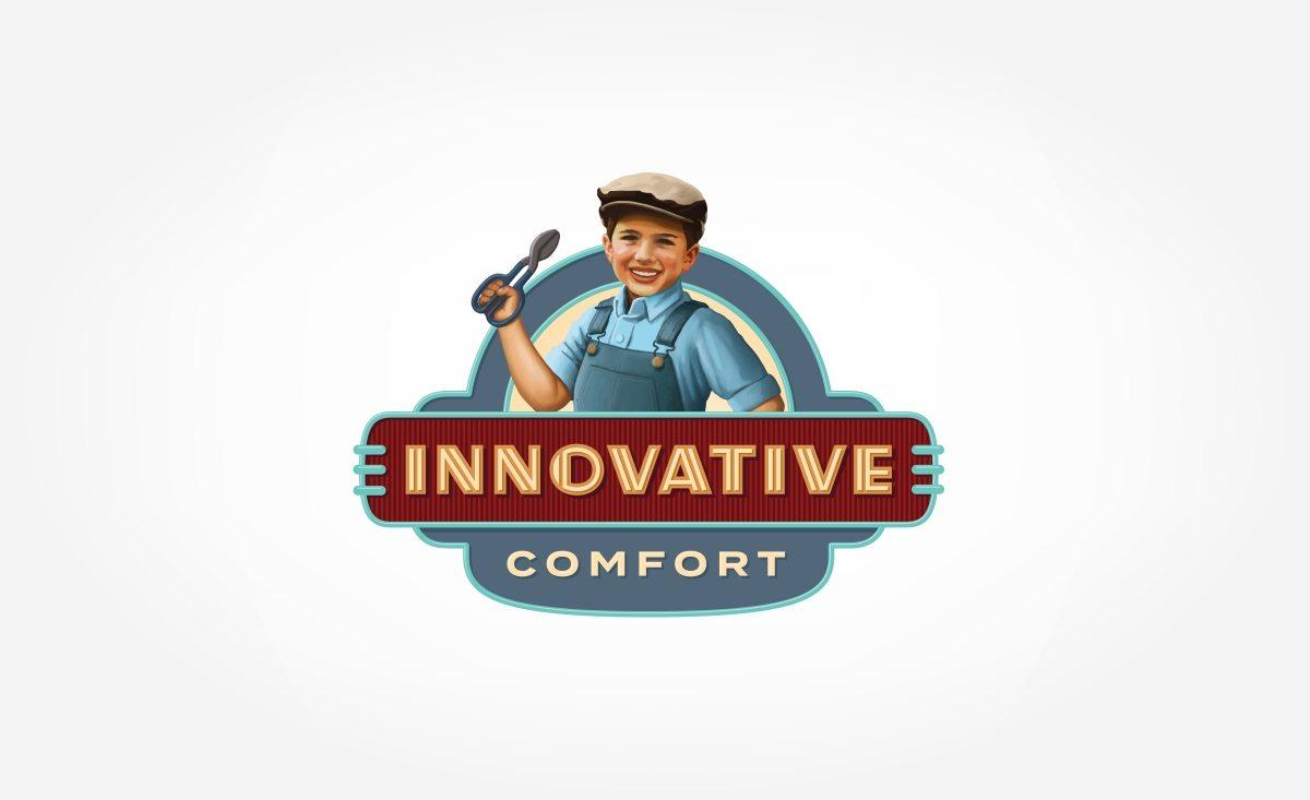 Logo design for Innovative Comfort, an HVAC company in Lynnwood, WA.