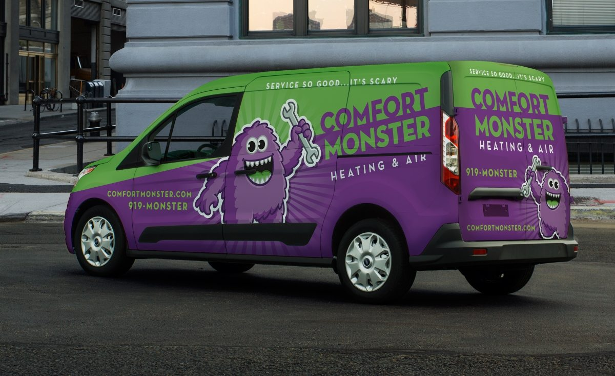 Comfort Monster Heating & Air Vehicle Wrap