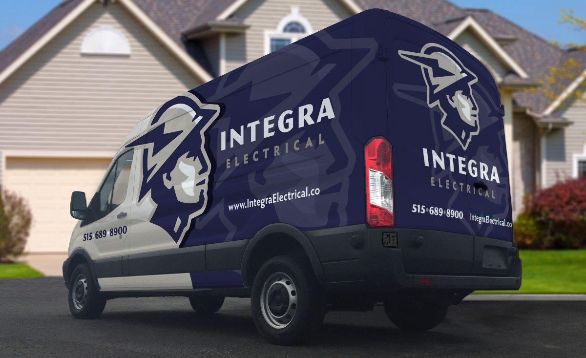 Integra Electrical Vehicle Wrap Design