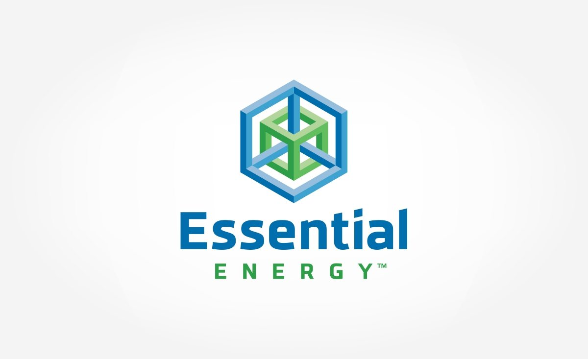 Logo design for Essential Energy, a global distributor of IceCOLD® Technology.
