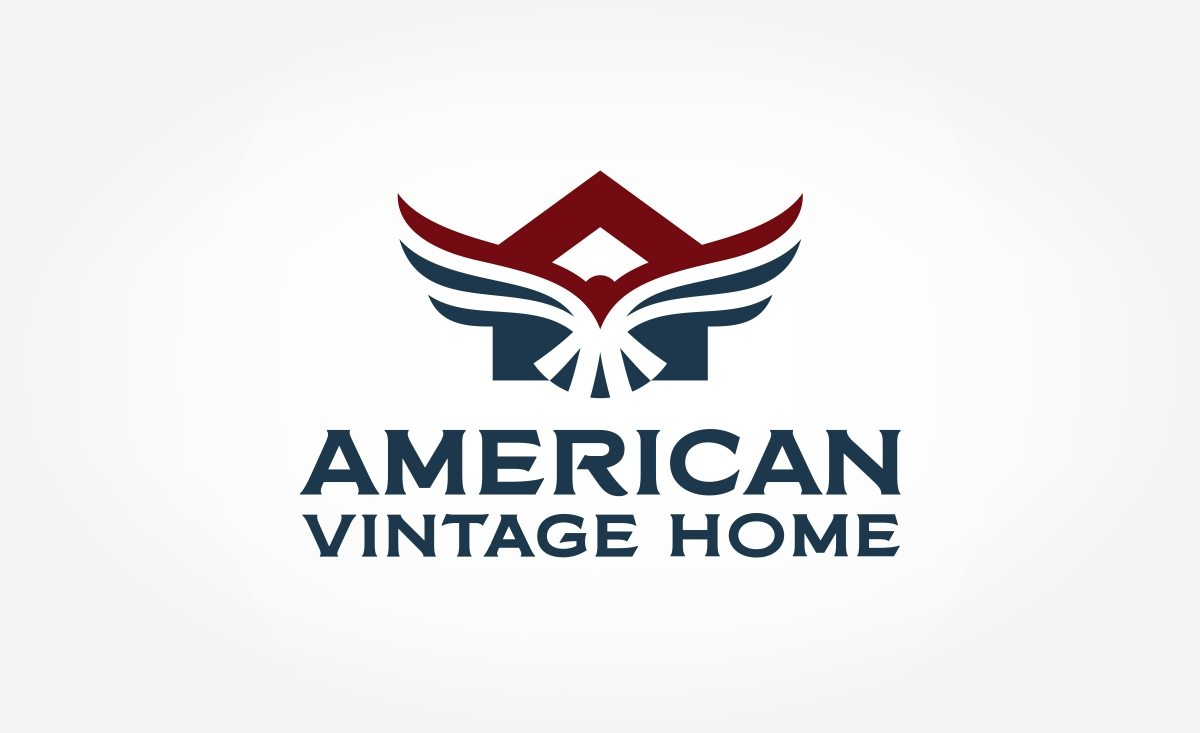 Logo design for American Vintage Home, an Illinois-based HVAC contractor.