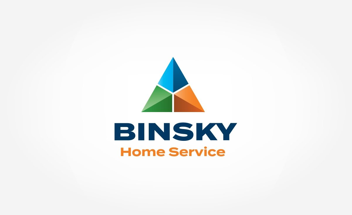 Logo design for Binsky Home Service, a New Jersey-based HVAC & plumbing contractor.