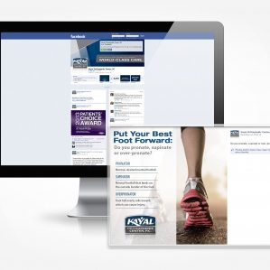 Facebook post graphics and management for Doctor Kayal's Orthopaedic services.