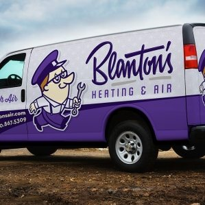 Truck wrap design for heating and air conditioning company in Fayetteville, NC.