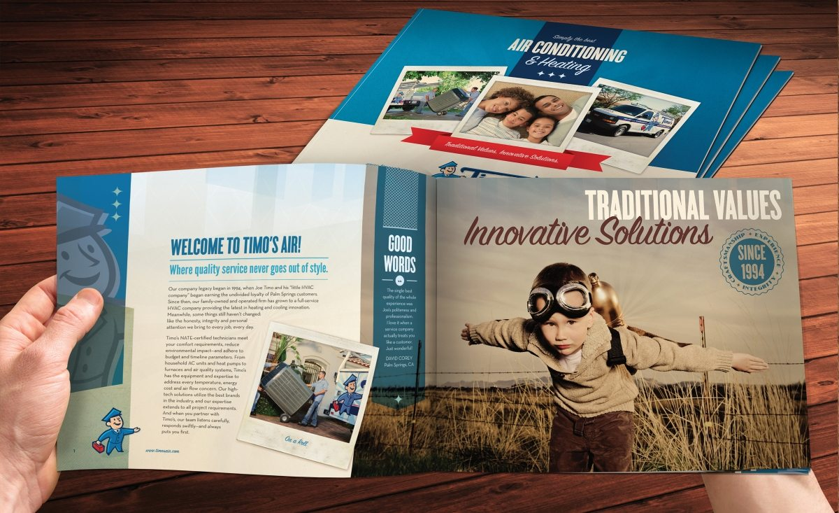 Collateral and brochure design, copywriting and printing for capabilities