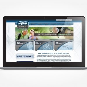 Web design and development for Franklin Lakes NJ orthopaedic center.