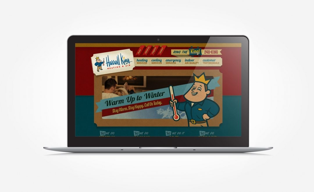 Web design for HVAC company located in Bainbridge, GA.