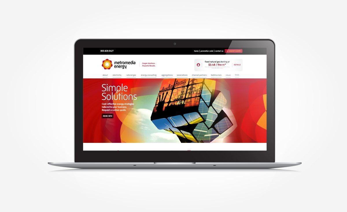 Web design for an independent energy marketer.