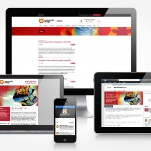 Facebook, Twitter, Linkedin, blog and newsletter design for Metromedia Energy.