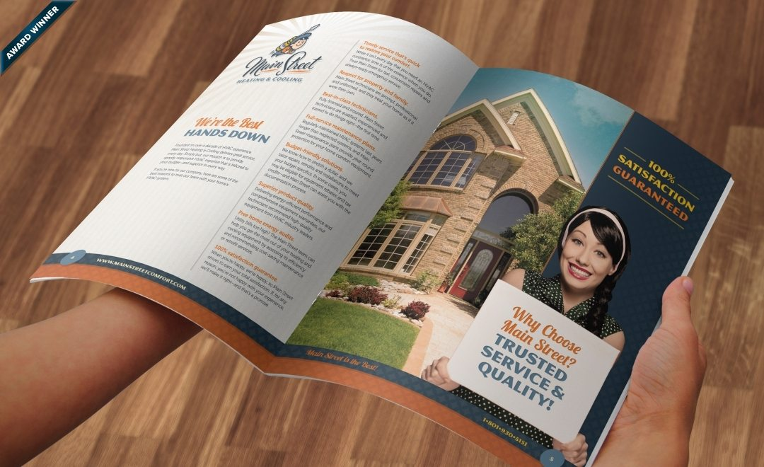 12-page brochure design, layout, copywriting and printing