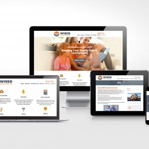 Website design for Wired Electrical Contractors in Marlborough, MA.