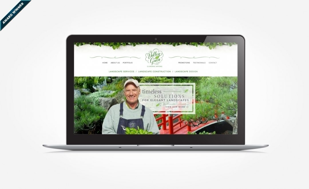 Website design for a landscape firm in Massachusetts. Award winning design - Graphic Design USA 2014 American Web Design Awards & Winner of Art Directors Club of NJ Award for Website Design, Gold, 2014.