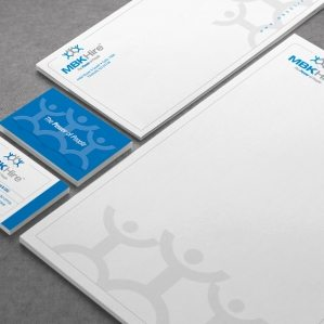 Stationery design for a New Jersey pharmaceutical and medical recruitment