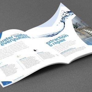 full color multipage brochure design for MasterTech