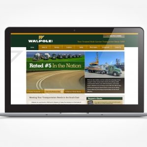 Web design for a bulk carrier transporter in Walpole, IL.