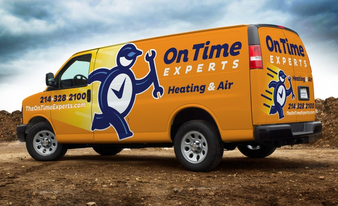 New identity, naming and truck wrap design integrated on a fleet of service vehicles for this Texas HVAC company.