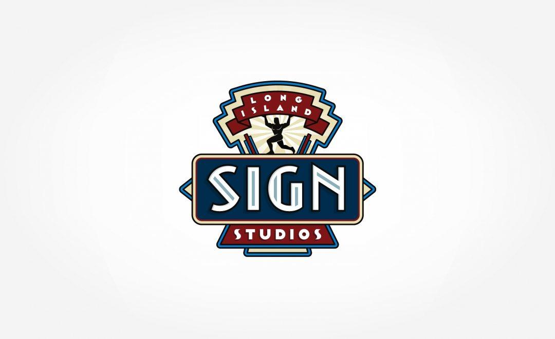 Custom logo design for a Long Island, NY based sign company.