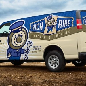 Logo design, and fleet branding for this Union, NJ HVAC company.