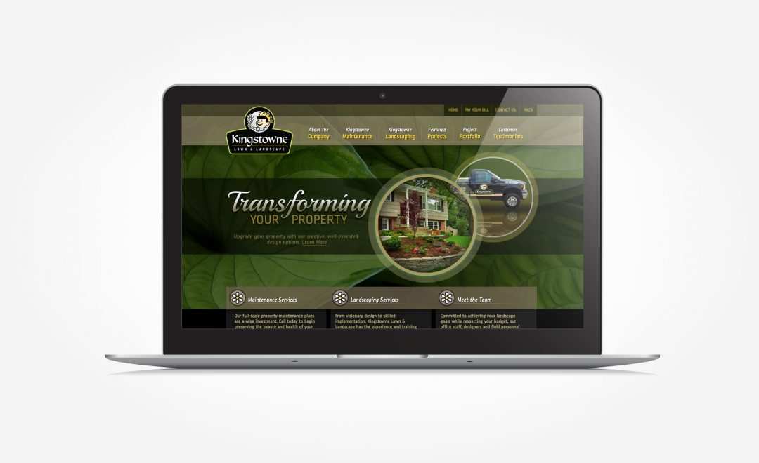 Web design for a landscape company in Lorton, VA.