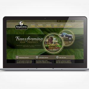 Web design for a landscape company in Lorton, VA.