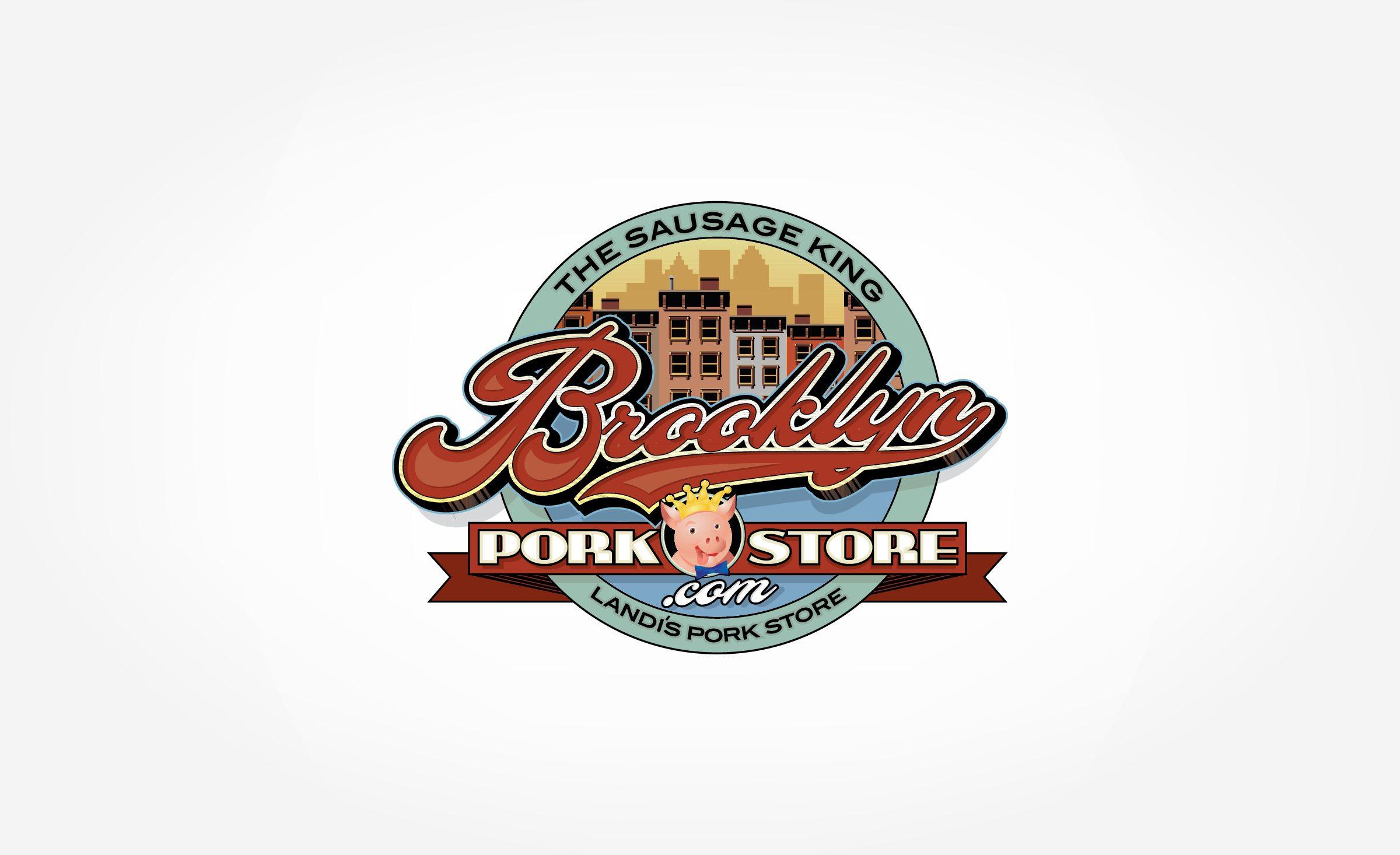Logo design for an Italian pork store in Brooklyn, NY.