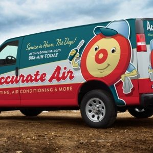 Retro fleet branding and wrap design for a Delaware based heating and air company.