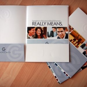 Pocket folder and collateral design, printing and copywriting