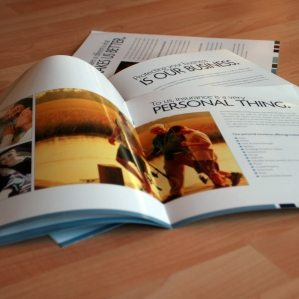 Collateral design, printing and copywriting