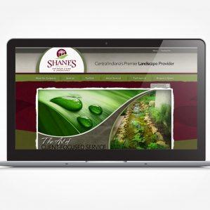 Web design for a landscape company in Fortville, IN.