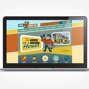 Web design for a home repair company.