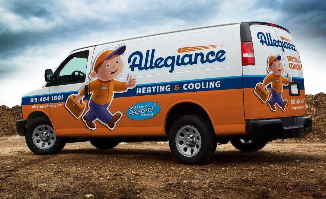 Award-winning vehicle advertising, branding, and truck wrap design for this HVAC contractor. Awarded an HVACR Magazine Tops in Trucks Winner