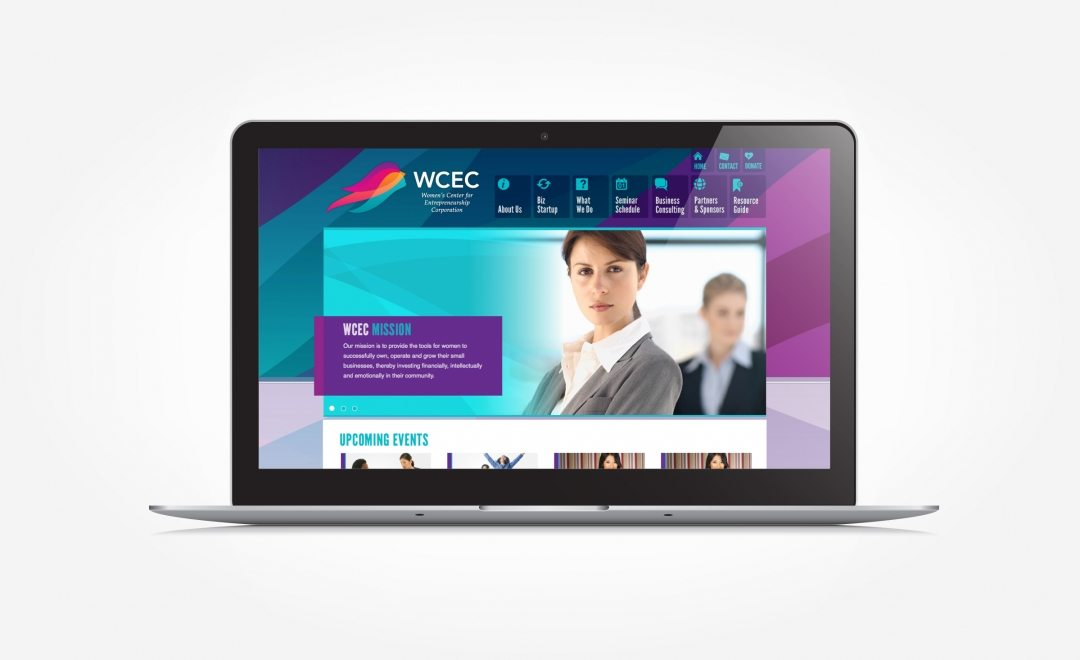 Web design for a women's center corporation in Chatham, NJ.