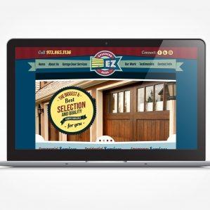 Web design garage door services located in East Hanover, NJ.
