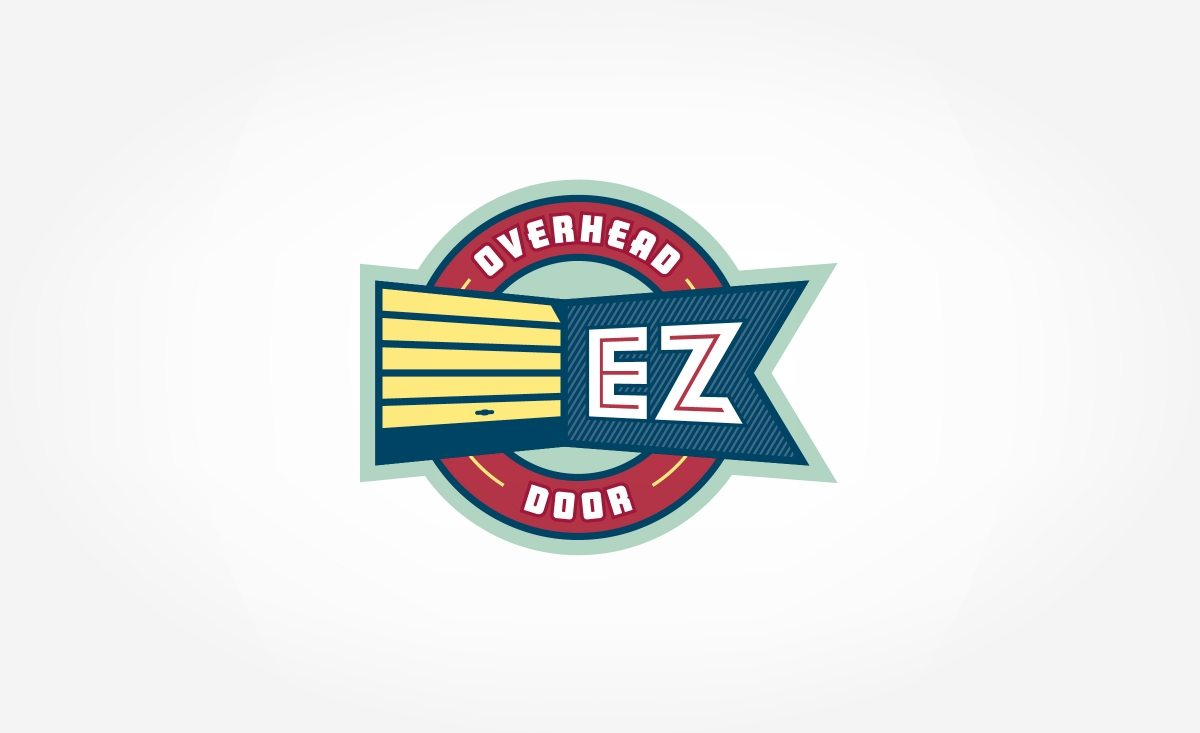 Vintage-themed retro logo design for NJ based garage door installation company.