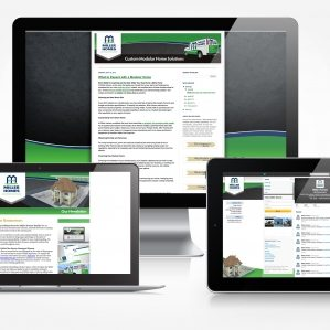 Facebook, Twitter, blog and newsletter design for Miller Homes.