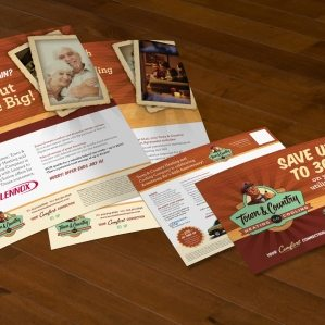 Direct mail postcard and handout design