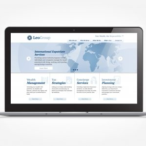 Web design for wealth managment services located in Chatham, NJ.