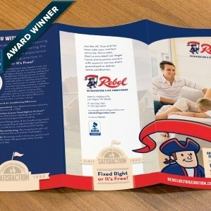 Trifold brochure design for a HVAC and refrigeration company in Las Vegas, NV.