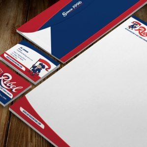 Stationery design for a HVAC and refrigeration company in Las Vegas, NV.