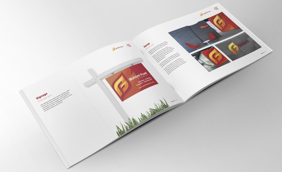 Brand guide for propane and oil company in New York.