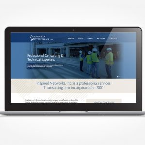 Website design for an IT consulting firm in Massachusetts.